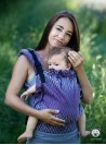 Adjustable Baby Carrier Multi Size: Herringbone purple, 100% cotton, jacquard