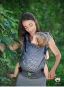 Nosidełko regulowane Multi Size: Herringbone grey, 100% bawełna, splot żakardowy