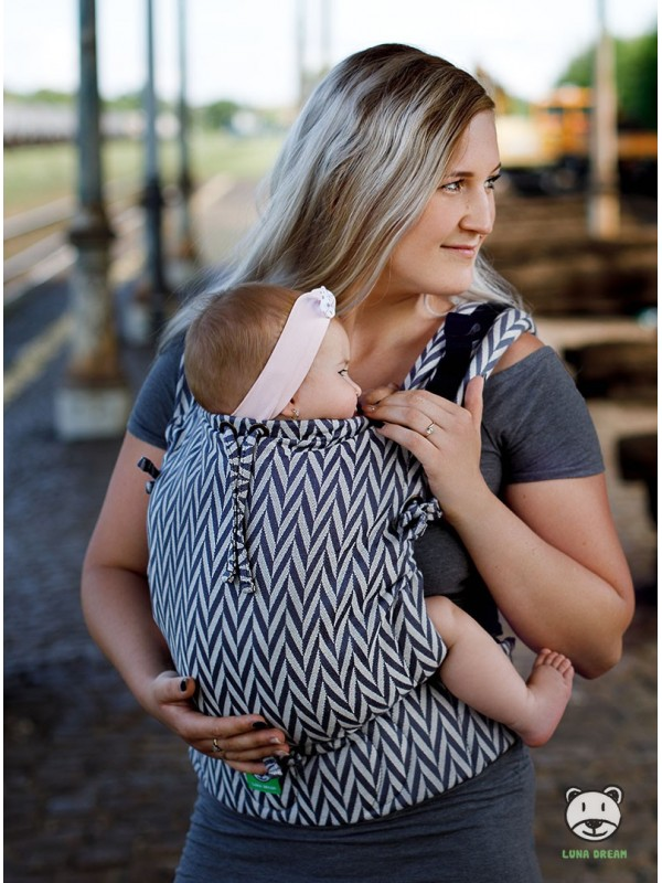 Adjustable Baby Carrier Multi Size: Herringbone mono, 100% cotton, jacquard