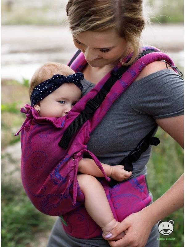 Регулируемый эро-рюкзак Multi Size: Pink (pink), 100% хлопок, жаккардовое плетение