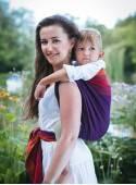 Chusta do noszenia dzieci PURPLE LOVE - 100% Bawełna, splot diamentowy
