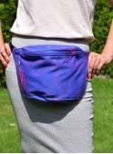 Bederní taška Luna Pink - modrý