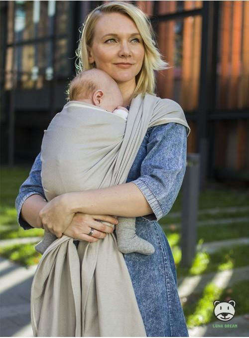 Chusta do noszenia dzieci ADAMANT (naturalna bawełna) - 100% Bawełna, splot diamentowy