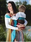 Chusta do noszenia dzieci RAINBOW RING - 100% Bawełna, chusta kółkowa, rozmiar: 2,1 m, splot diamentowy