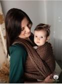 Chusta do noszenia dzieci LITTLE HEARTS COFFEE - 100% Bawełna, splot żakardowy
