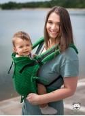Nosidełko regulowane Multi Size: Big Herringbone green, 100% bawełna, splot żakardowy