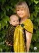 Chusta do noszenia dzieci BIG HERRINGBONE YELLOW RING - 100% Bawełna, chusta kółkowa, rozmiar: 2,1 m, splot żakardowy
