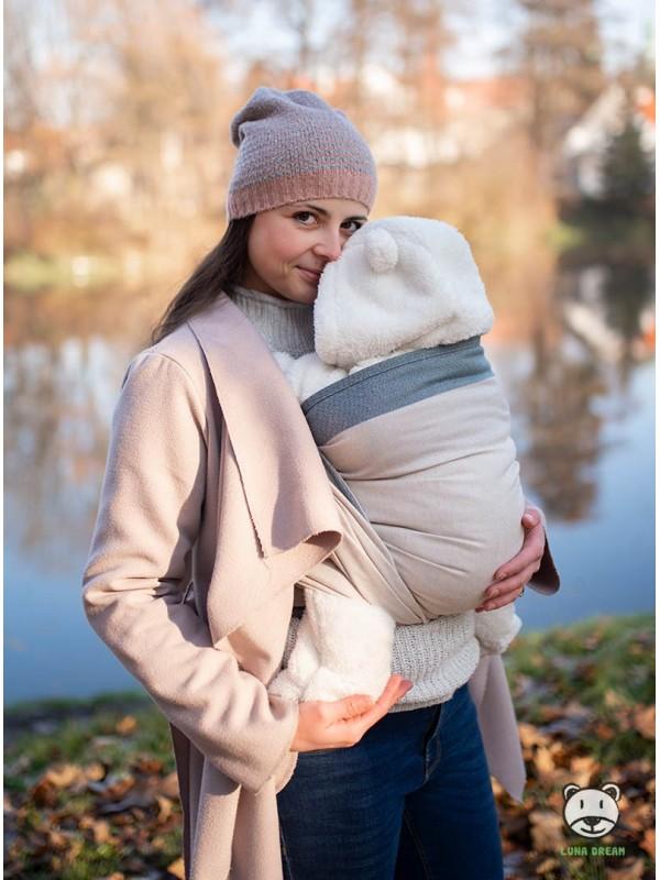 Chusta do noszenia dzieci DIAMOND CREAMY - 60% bawełna 20% len 20 bambus, splot diamentowy