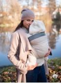 Chusta do noszenia dzieci DIAMOND CREAMY - 60% bawełna 20% len 20% bambus, splot diamentowy