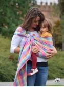 Chusta do noszenia dzieci MAGIC SUMMER RING (krata) - 100% Bawełna, chusta kółkowa, rozmiar: 2,1 m, splot skośno-krzyżowy