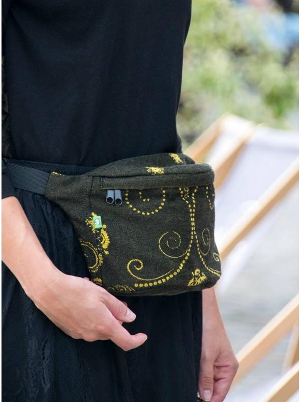 Waist Bag Black&Gold - black