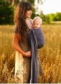 Chusta do noszenia dzieci TALISMAN GRAPHITE UNICOLOR RING 2,1 m - 100% Bawełna, splot żakardkowy