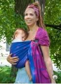 Chusta do noszenia dzieci LUNA PINK RING - 100% Bawełna, chusta kółkowa, rozmiar: 2,1 m, splot żakardowy